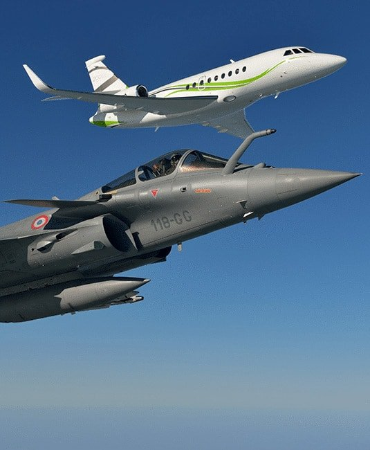 Rafale and Falcon 2000S