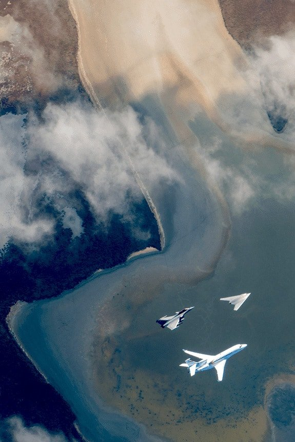 nEUROn, Rafale and Falcon 8X