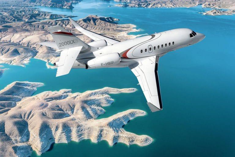 Falcon 2000LXS en vol © Dassault Aviation
