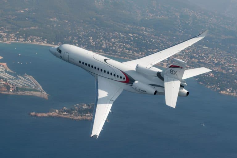 Falcon 8X en vol © Dassault Aviation - A. Pecchi
