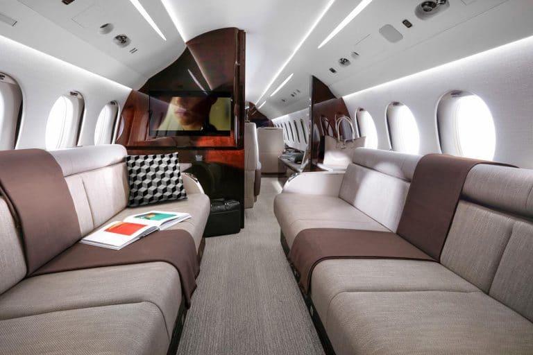 Falcon 8X. Intérieur cabine © Dassault Aviation