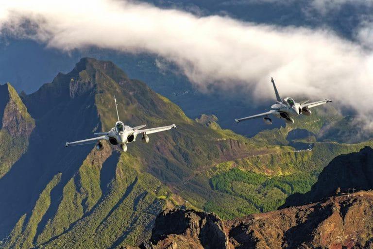 Rafale Air au dessus de la Réunion © Défense/Armée de l'air/M.Buis