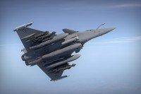 Rafale B de l'Armée de l'air française en vol.