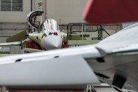 Etablissement de Bordeaux-Merignac. Chaine d'assemblage final du Rafale à l'usine Dassault Aviation.