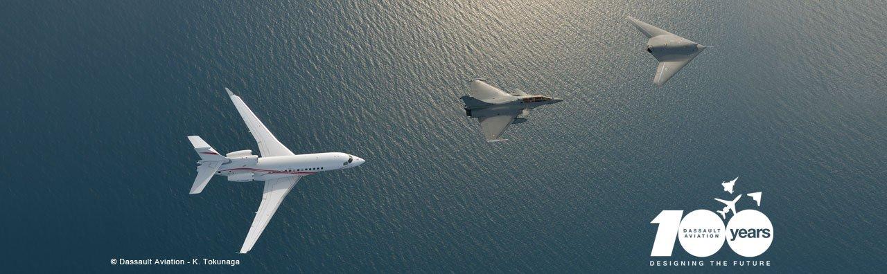 Falcon 7X, nEUROn, Rafale