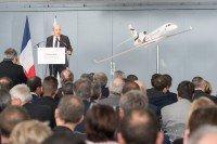 Inauguration du centre de maintenance de Dassault Falcon Service à Mérignac.