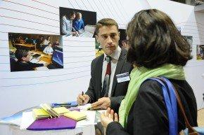 Intervention des équipes Dassault Aviation sur le Forum Emploi.