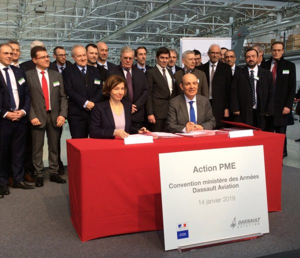 Dassault Aviation renouvelle sa convention avec le ministère des Armées pour le soutien aux PME