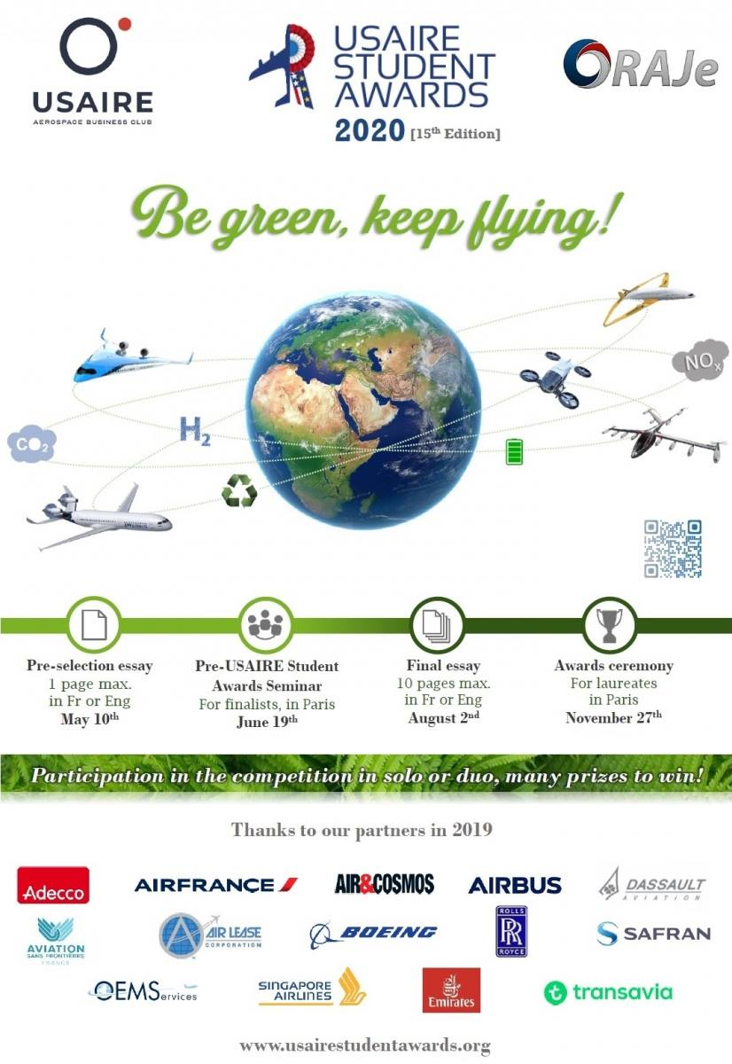 USAIRE Students Awards 2020 : Be green keep flying