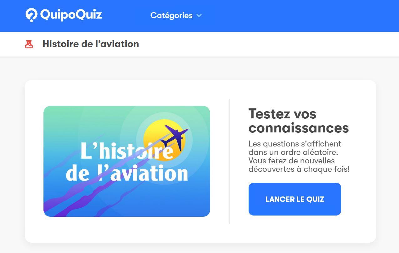 Quipoquiz – L'histoire de l'aviation