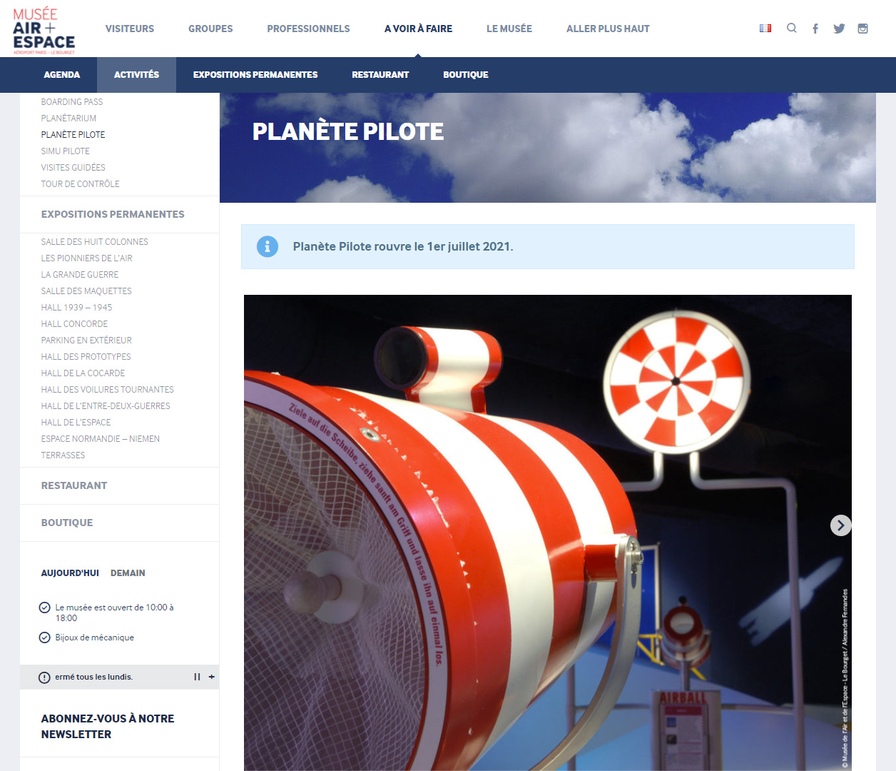 Expo – Planète Pilote au Musée de l'Air et de l'Espace