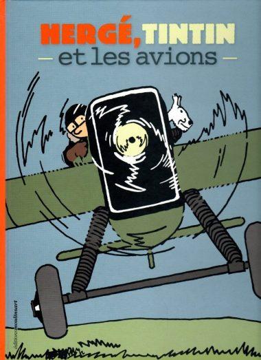 Couverture du livre « Hergé, Tintin et les avions »