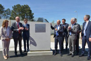 Pose de la première pierre du nouveau bâtiment Mérignac 2020 à Bordeaux-Mérignac, 14 mai 2019.