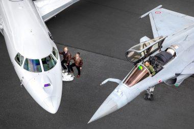 Falcon 8X et Rafale C