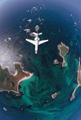 Falcon 50 en vol de surveillance maritime