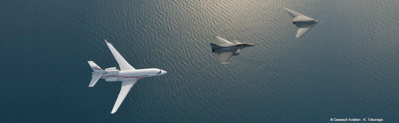 Falcon 7X, Rafale, nEUROn