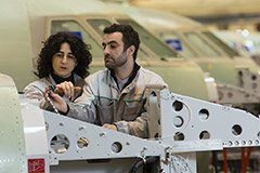 Dassault Aviation Facility: Biarritz, France. Experience sharing at the Falcon fuselage assembly line.