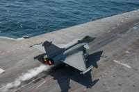Rafale Navy on Charles-de-Gaulle aircraft carrier.