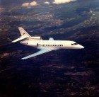Falcon 900 01 in flight