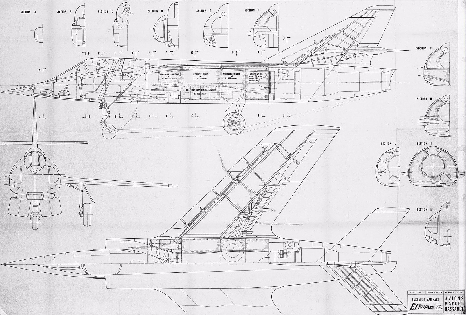 Exploded Engine Diagram Group Picture Image By Tag 3 View Drawings Of A Selection Dassault Aviation Aircraft