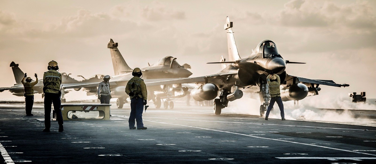 Charles de Gaulle aircraft carrier. Rafale M.