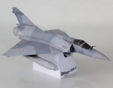 Papercraft of the Mirage 2000-5
