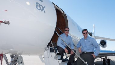 Falcon 8X Sets New Cross Country Speed Record