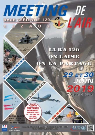 Poster for the Cazaux air show