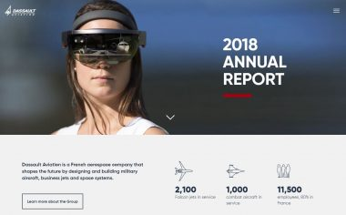 Dassault Aviation's 2018 Digital Annual Report